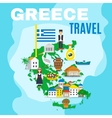 Map Greece Poster vector image