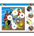match pieces game with birds vector image vector image