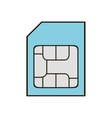 memory stick card isolated icon vector image
