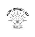 mother s day greeting card with orchid in beams vector image vector image