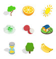 natural recovery icons set isometric style vector image