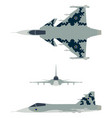 new brazilian military fighter plane camouflage vector image vector image
