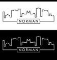 norman skyline linear style editable file vector image vector image
