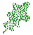 oak leaf collage of dollar and dots vector image vector image