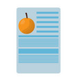 orange nutrition facts label template vector image vector image