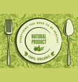 organic natural food design concept vector image