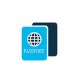 passport icon colored symbol premium quality vector image