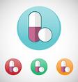 Pills icon set vector image vector image