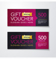 pink gift voucher template vector image