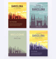 placard with famous barcelona city scape vector image vector image