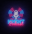 podcast neon sign night podcast design vector image vector image