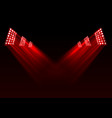 red stage lights background vector image