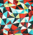 retro mosaic triangle seamless pattern vector image