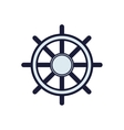 rudder sea lifestyle nautical marine icon vector image vector image