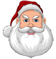 Santa Angry Face Front vector image vector image