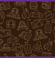 seamless pattern with luggage vector image vector image