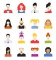 set avatar flat design icons vector image vector image