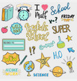 set back to school stickers vector image