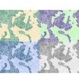 set city maps vector image vector image
