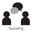 Speaking Icon vector image