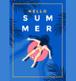 summer background flat design summer time 5 vector image vector image