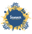 summer travel banner with palm trees and sailboats vector image vector image
