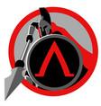 symbol spartan warrior vector image vector image