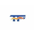 TF Logo Graphic Branding Letter Element vector image vector image