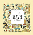travel to egypt greeting card for your design vector image