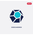 two color dodecahedron icon from geometry concept vector image vector image