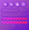 violet game ui elements - buttons and bars for vector image vector image