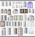 windows plastic vector image vector image