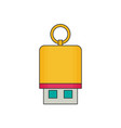 flash drive flat vector image