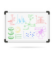Marker board infographic charts vector image