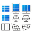 set of solar panels in many style vector image