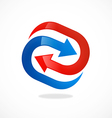 arrow circle process abstract logo vector image
