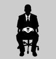 business man black and white 3 vector image