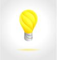 Modern lamp bulb symbol concept vector image