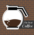A jar of coffee with the best coffee inscription vector image vector image