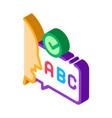 alphabet speech isometric icon vector image vector image