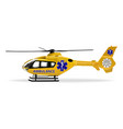 ambulance helicopter air ambulance air transport vector image vector image