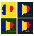 andorra map andorra flag isolated andorra vector image vector image