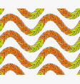 artistic color brushed green orange braids vector image vector image
