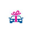 automotive gift logo icon design vector image vector image
