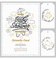 bashower invitation templates set hand drawn vector image vector image