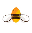 bee logo or icon design doodle hand drawn vector image vector image