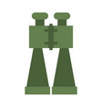 binocular camping and spy device vector image vector image
