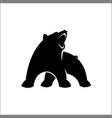 black bear silhouette logo vector image