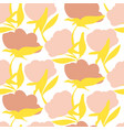 bold flower silhouettes seamless pattern vector image
