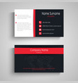 business card with dark red design effects vector image vector image